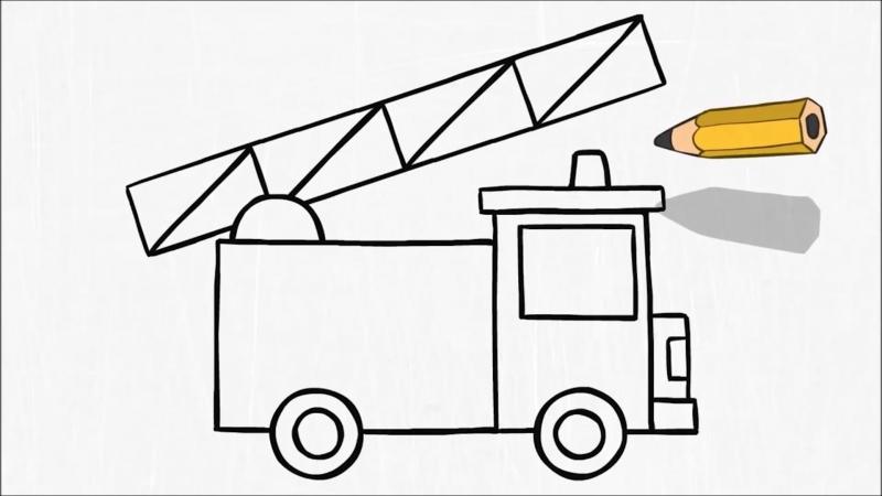 соматических рисование пожарной машины в подготовительной группе живет