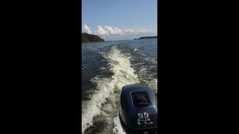 Sea Pro 9 9 аналог Ямахи идем по Выборскому заливу 😎