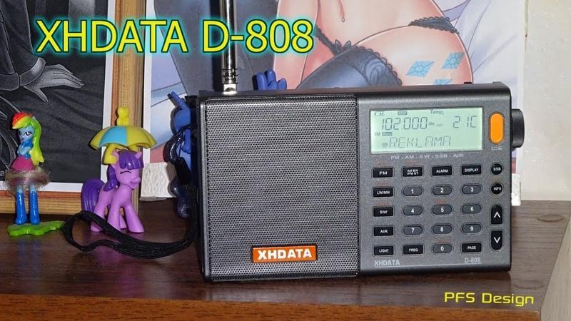 Радиоприёмник XHDATA D-808 Распаковка и первое включение