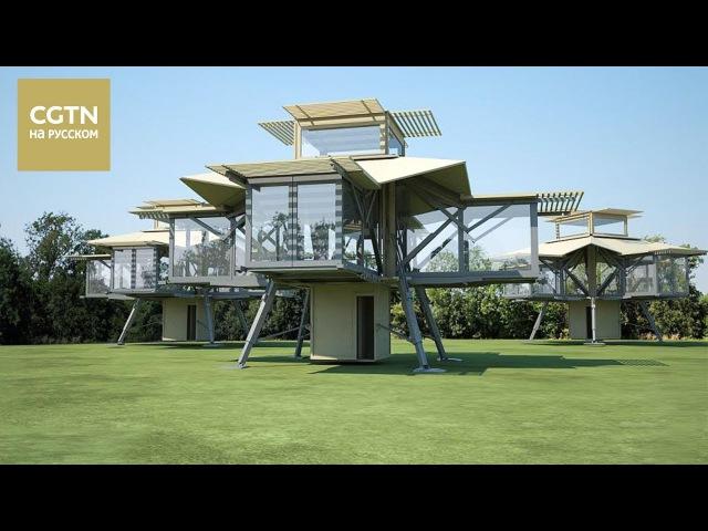 Британская компания Ten Fold Engineering создала мобильный самораскладывающийся дом гармошку Age0