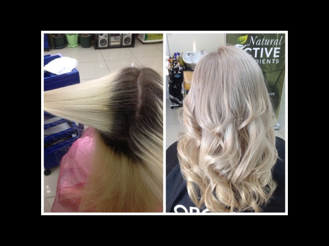 Обесцвечивание волос Красивый БЛОНД без желтизны Bleaching of hair BLONDE without brassy