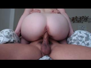 Big round ass cowgirl cock ridding and creampie / наездница с большой округло попой
