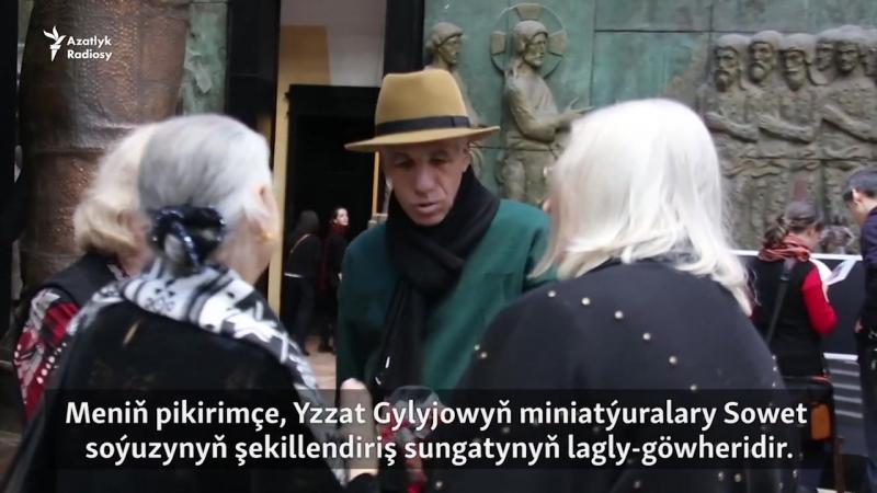 Meşhur türkmen suratkeşi Yzzat Gylyjowyň sergisi geçdi