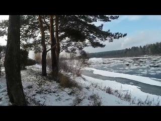 Ледостав на реке Кан