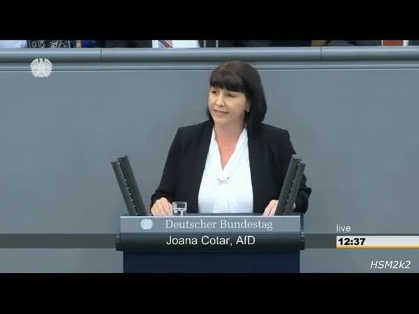 Frau Merkel Sie machen Deutschland zu einem lahmen Gaul ► AfD Joana Cotar im Bundestag
