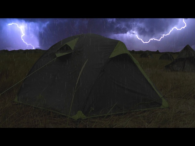 ⚡️ Thunderstorm Rain On Tent Sounds For Sleeping ~ Lightning Drops Downpour Canvas Ambience
