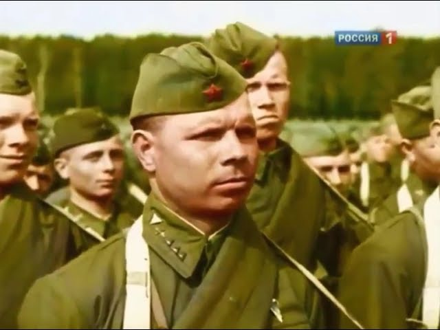 22 июня 1941 г. - потрясающе трогательное видео о начале войны в цвете [HD 720]