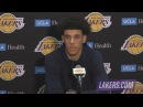 Lonzo Ball Postgame Interview Nuggets vs Lakers October 2 2017 2017 NBA Preseason