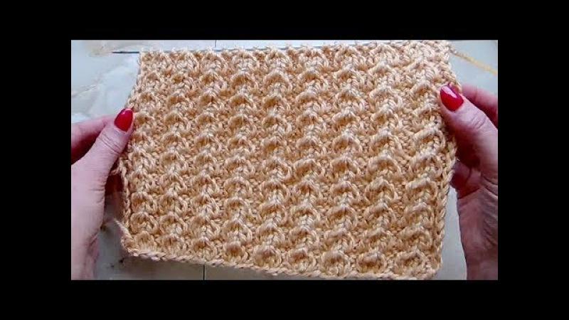Объемная ложная косичка Вязание спицами Видеоурок 254