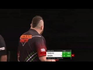 Michael Smith vs Mensur Suljovic (2018 Premier League Darts / Week 3)