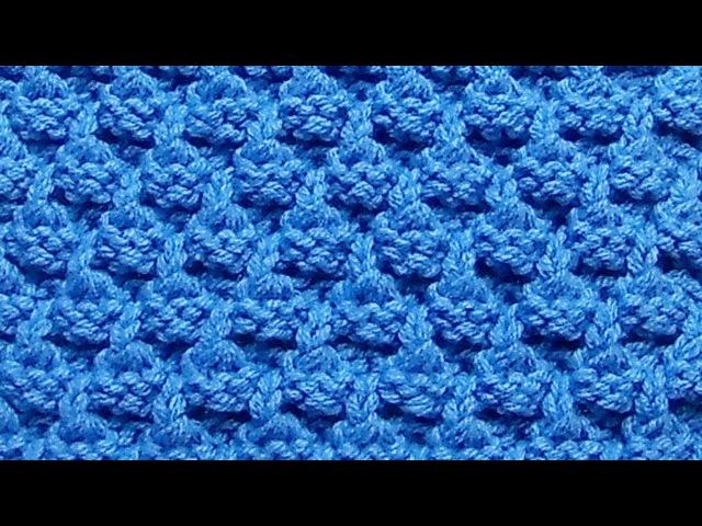 Рельефный узор Вязание спицами Видеоурок 248