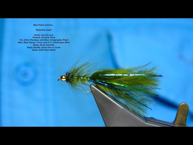 Tying the Blue Flash Damsel Nymph Woolly Bugger with Davie McPhail