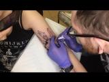 Работа Дмитрия Мироненко: бафомет на руке
