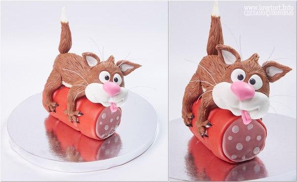 Фигурка котика для тортика cake
