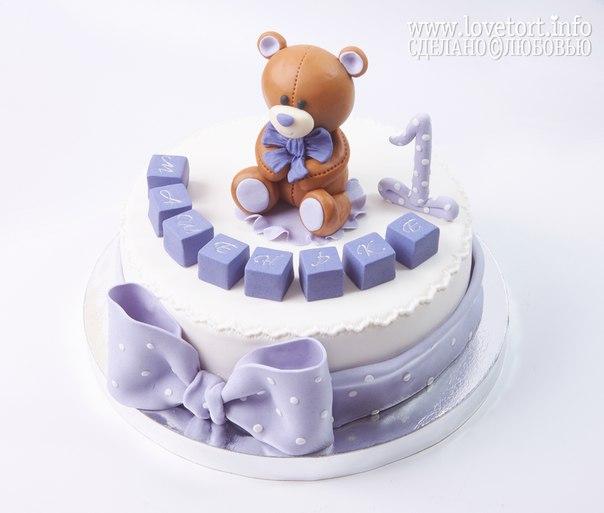 Торт с мишкой на годик cake