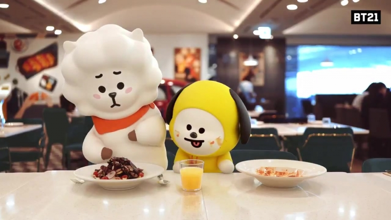 BT21 Help yourself CHIMMY RJ Cleaneating nomnom Find BT21 at IncheonAirport