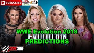 WWE Evolution 2018 Trish Stratus & Lita vs  Alexa Bliss & Mickie James Predictions WWE 2K19
