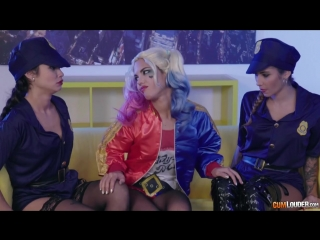 Lesbian babe harley has fun with police girls