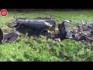 Останки разбившегося вертолета в Ставрополье