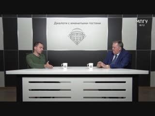 К.В.Сёмин и Е.Ю.Спицын в студии МПГУ. Мои университеты