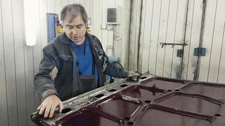 Обработка внутренней части капота Lada 2105 борьба с коррозией
