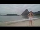 Я на пляже Фламенко на фоне самолета. Рио-де-Жанейро.
