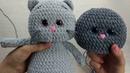 Утяжка мордочки вязаной игрушки амигуруми на примере плюшевого Котика (приложение к МК)