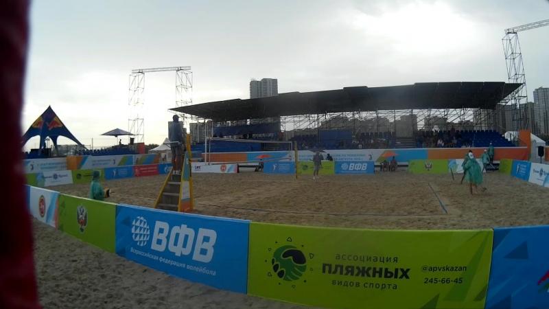 Beach volley Russia Kazan 2018 M 09 Alfimov Ermishenkov and Bogatov Rakusov