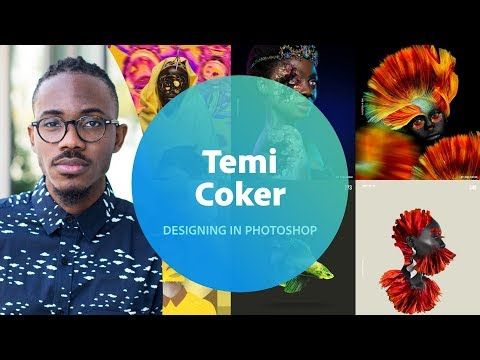 Live Designing in Photoshop with Temi Coker 3 of 3