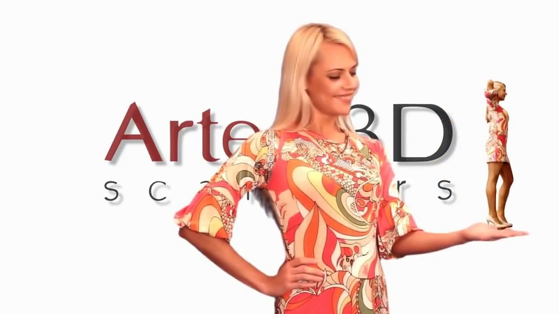 3D cканирование человека при помощи сканера 3D Artec Eva