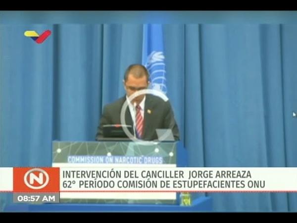 Canciller de Venezuela Jorge Arreaza en la 62° Sesion Comisión Estupefacientes de la ONU
