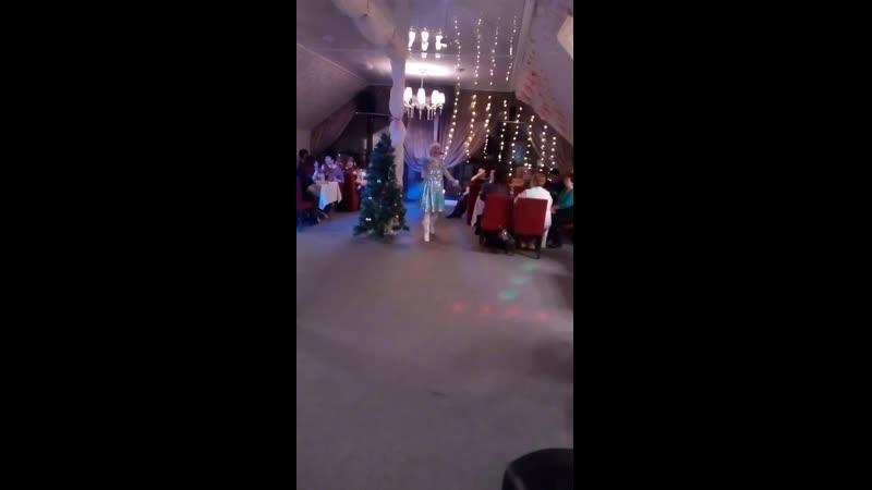 Новогодний корпоратив Кафе Шале Воспитатели гуляют Снегурочка Елена и Дед Мороз Андрей зажигают 2018 г