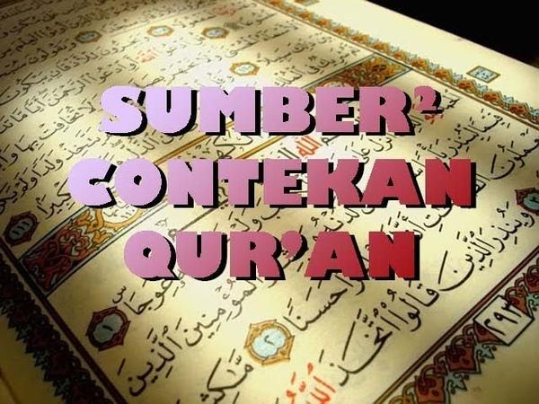 Sumber² Contekan Quran