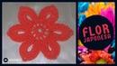 Flor Japonesa flor de encaje japonés tejida a crochet