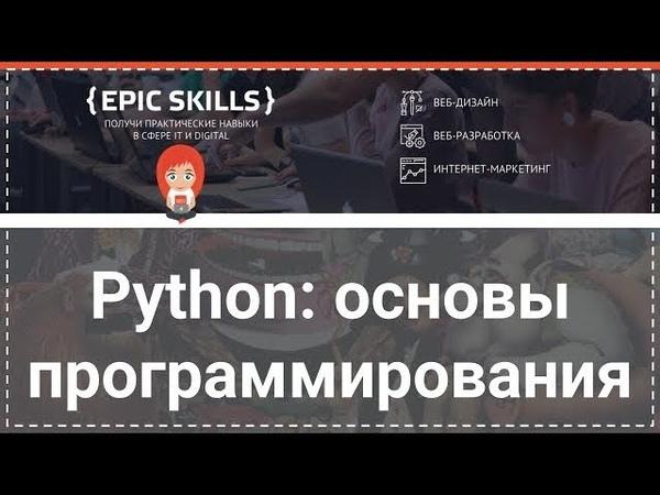 Python основы программирования. Урок 1