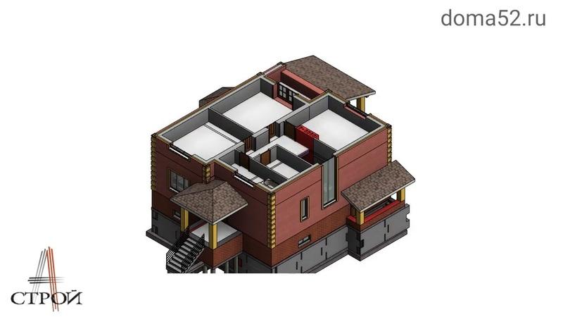 Обзор дома 330 м2. из керамического кирпича Нижний Новгород, Сормовский район. Часть 2