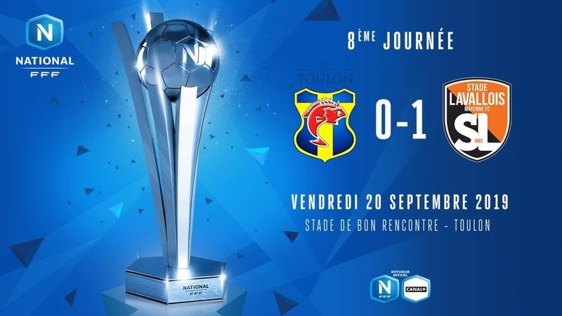 J8   SC Toulon - Stade Lavallois (0-1), le résumé   National FFF 2019-2020