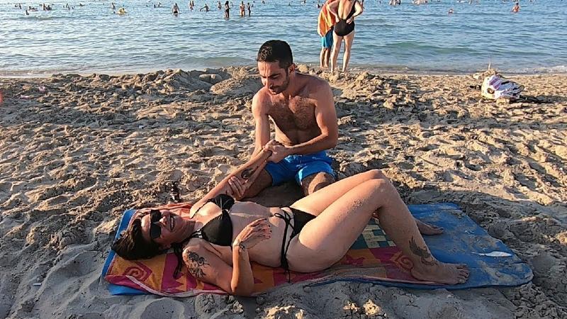 Live Massage at Izmir Cesme Beach