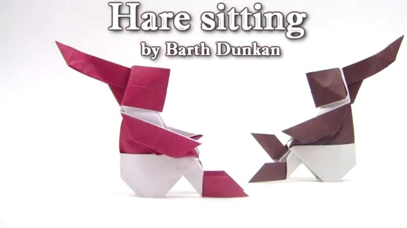 Origami Hare sitting by Barth Dunkan - Origami easy tutorial