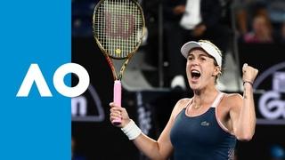 Sloane Stephens v Anastasia Pavlyuchenkova match highlights (4R)   Australian Open 2019