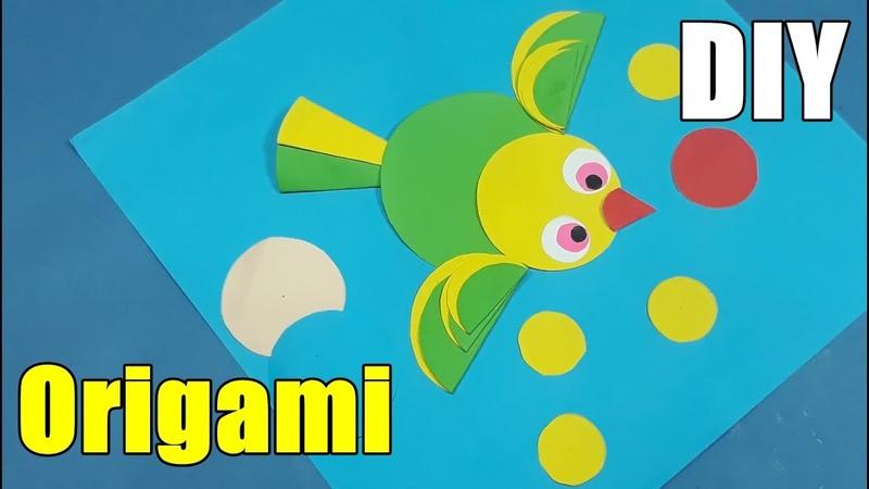 Gunting Tempel Bentuk Burung Kreasi Anak PAUD TK Easy Origami Ideas Anyone Can Make DIY