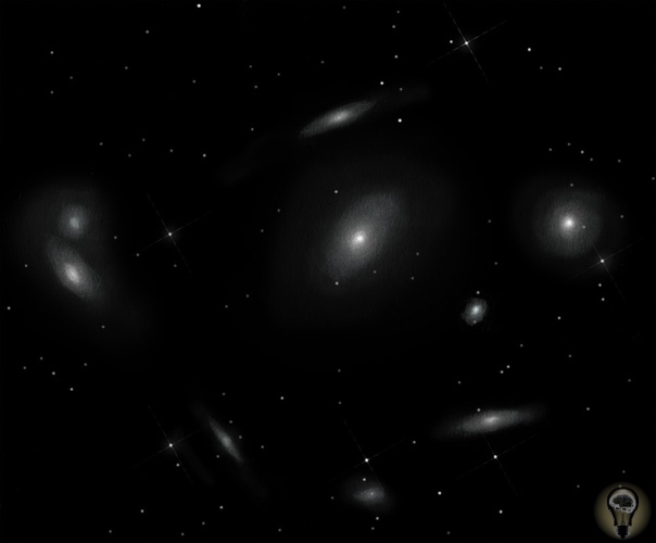 Как выглядит звездное небо в очень большой телескоп