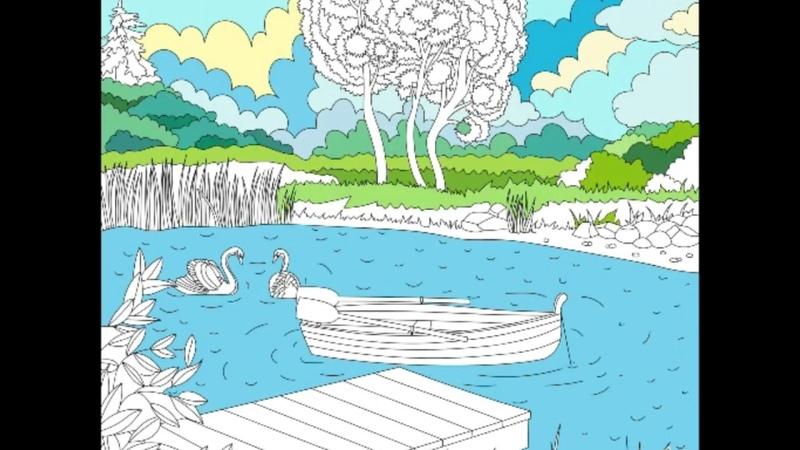 Природа ) картины по номерам Happy Color