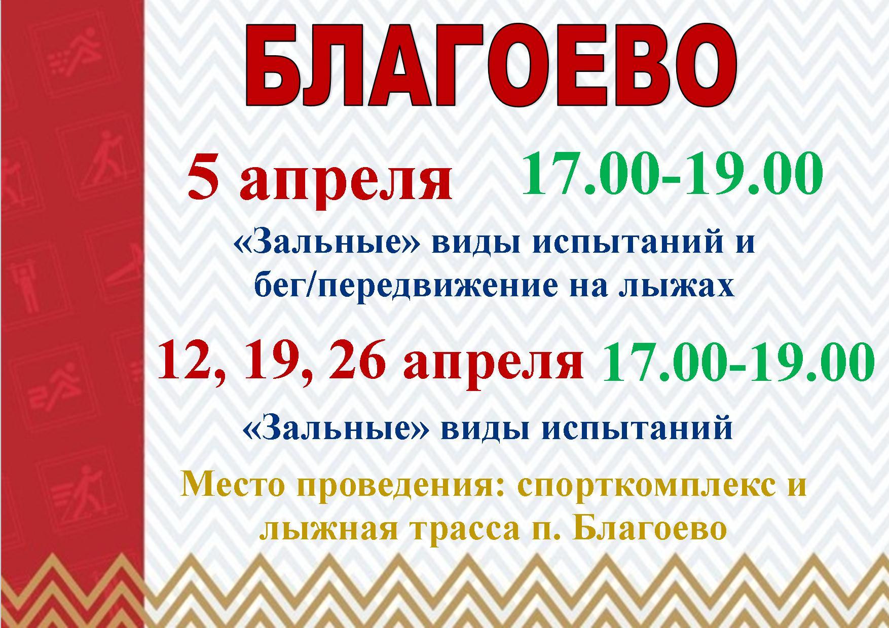 ГРАФИК ТЕСТИРОВАНИЙ ГТО НА АПРЕЛЬ