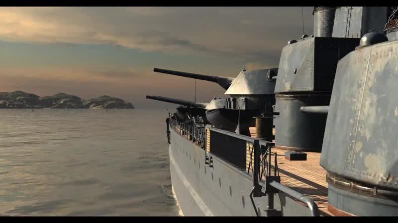 Главный калибр большого крейсера Кронштадт
