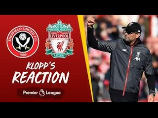 Klopp's reaction 'we got the three points, and i'm really happy' | sheffield united vs liverpool