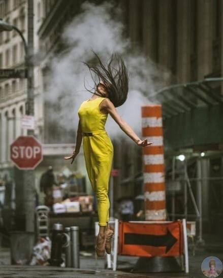 Изящный балет на улицах Нью-Йорка