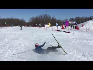 Как не нужно кататься на лыжах)