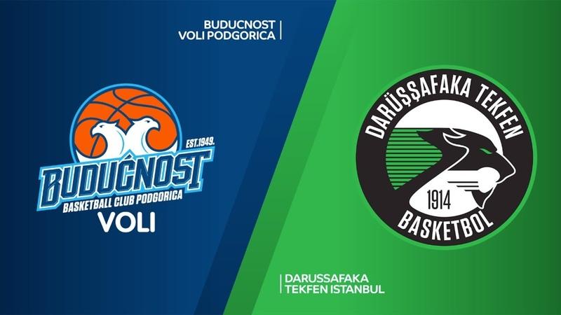 Buducnost VOLI Podgorica - Darussafaka Tekfen Istanbul Highlights   EuroLeague RS Round 18