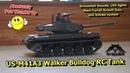 Henglong US M41A3 Walker Bulldog RC Tank 6mm Airsoft BB Gun Real Smoke